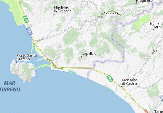 Karte Stadtplan Capalbio