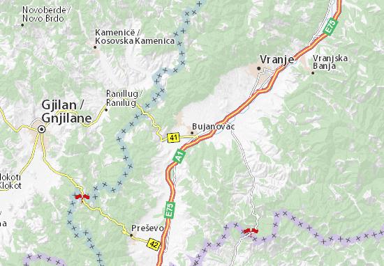 Mapa Plano Bujanovac