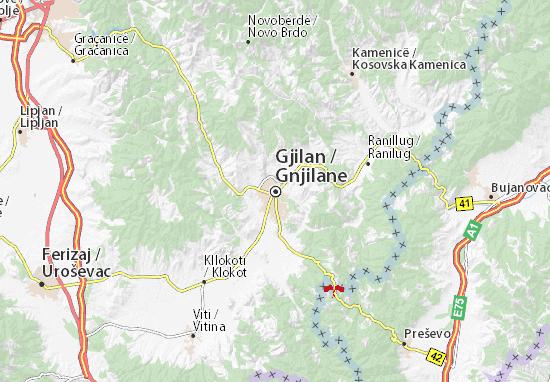 Gnjilane Map