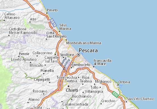 Map of Pescara - Michelin Pescara map - ViaMichelin