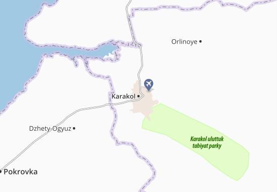 Carte-Plan Karakol