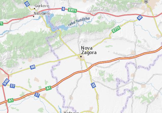Mapa Plano Nova Zagora
