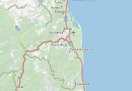 Karte Stadtplan Vescovato