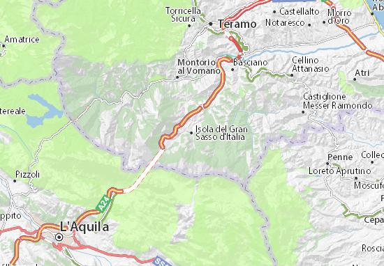 Cartina Dell Italia Stradale.Mappa Michelin Isola Del Gran Sasso D Italia Pinatina Di Isola Del Gran Sasso D Italia Viamichelin