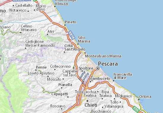 Carte-Plan Montesilvano Marina