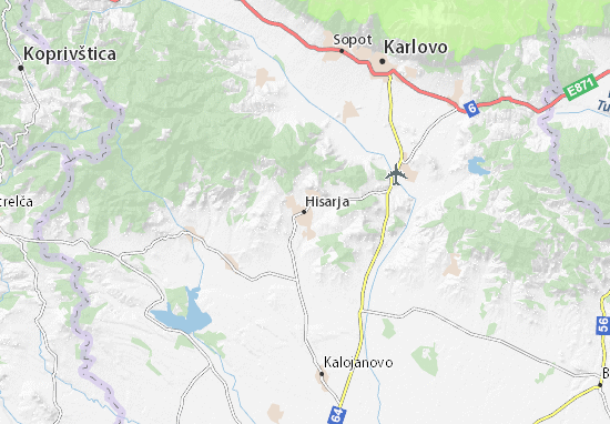 Karte Stadtplan Hisarja