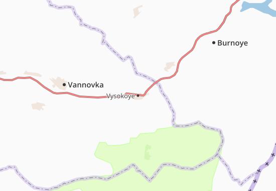 Vysokoye Map