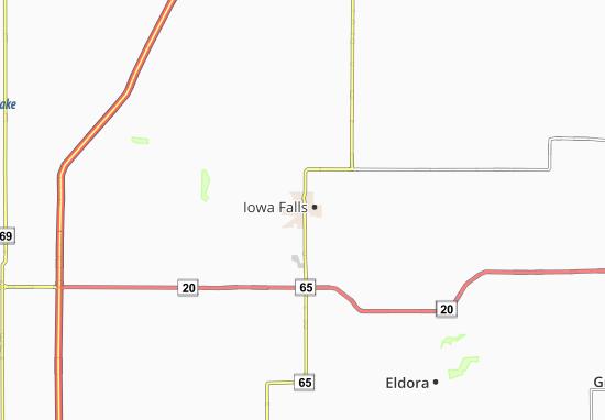 Map of Iowa Falls Michelin Iowa Falls map ViaMichelin – Iowa Tourist Attractions Map