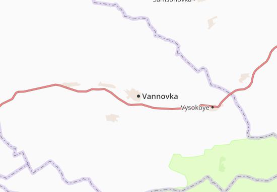 Kaart Plattegrond Vannovka