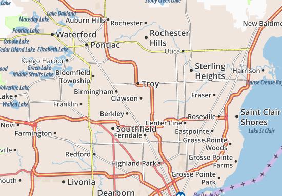 Clawson Map
