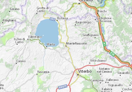 Montefiascone Map