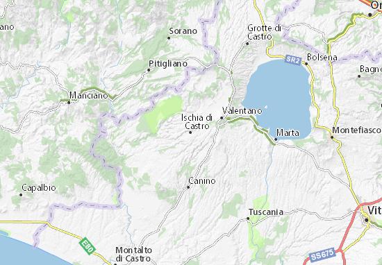 Mapas-Planos Ischia di Castro
