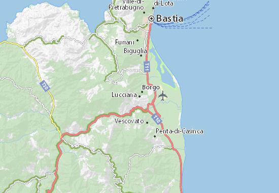 Karte Stadtplan Lucciana