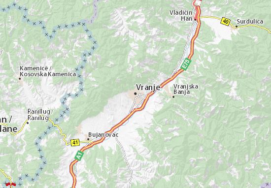mapa vranje Mapa Vranje   plano Vranje   ViaMichelin mapa vranje