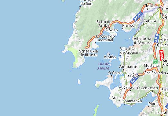 Santa Uxía de Ribeira Map
