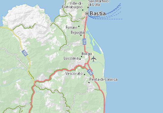 Carte Corse Ville.Carte Detaillee Borgo Plan Borgo Viamichelin