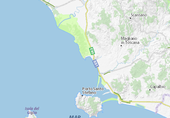 Talamone Italy Map.Talamone Map Detailed Maps For The City Of Talamone Viamichelin