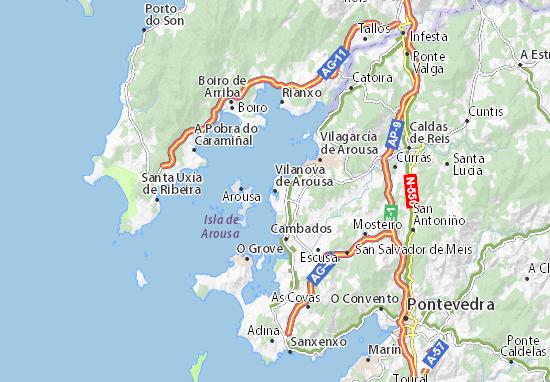 Carte-Plan Vilanova de Arousa