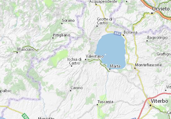 Valentano Map