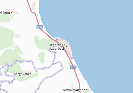 Izberbaš Map