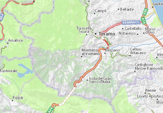Montorio al Vomano Map