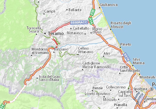 Mapa Cellino Attanasio