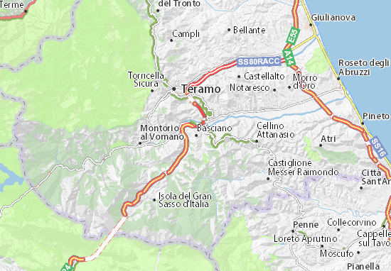Basciano Map
