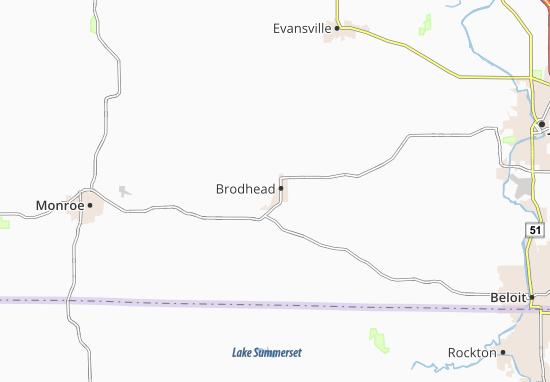 Kaart Plattegrond Brodhead