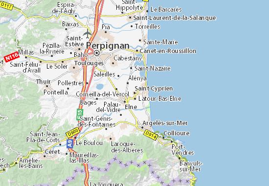 Kaart Plattegrond Saint-Cyprien