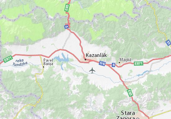 Karte Stadtplan Kazanlăk