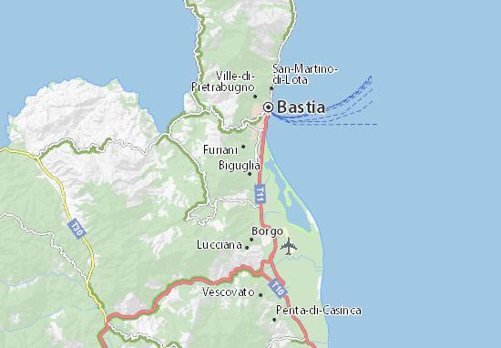 Biguglia Map