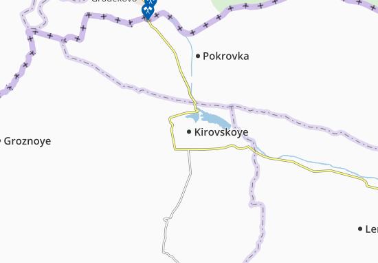 Mapa Plano Kirovskoye