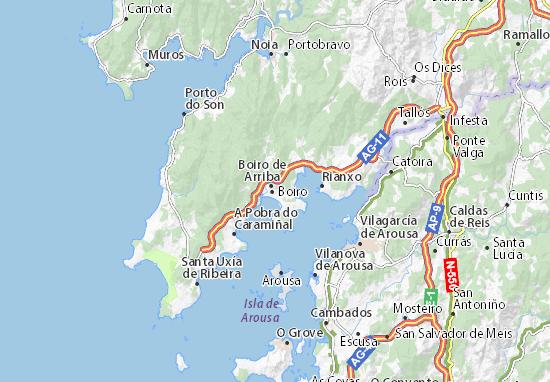 Boiro de Arriba Map