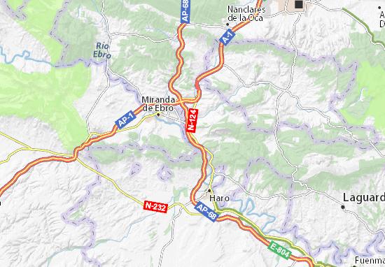 Mapa Miranda De Ebro.Mapa Zambrana Plano Zambrana Viamichelin