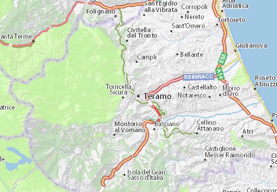 Teramo Map