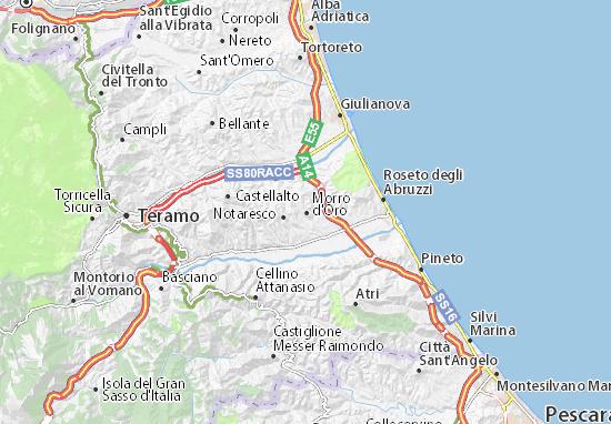 Morro d'Oro Map