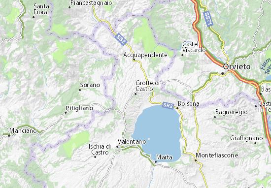 Mappe-Piantine Grotte di Castro