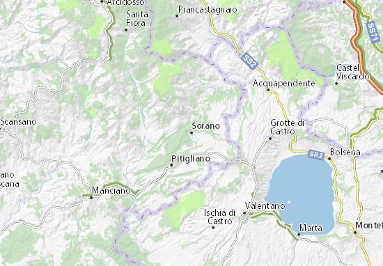 Mappe-Piantine Sorano