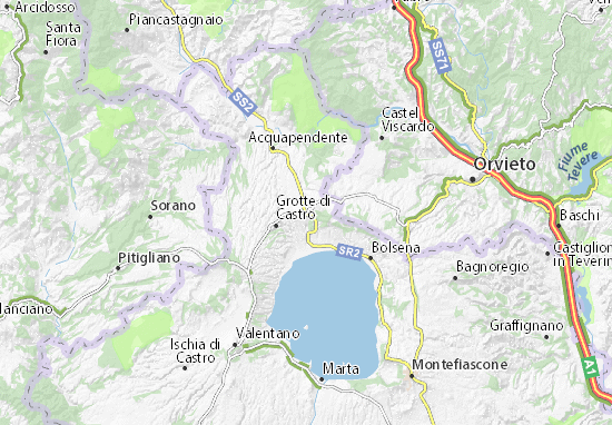 San Lorenzo Nuovo Map