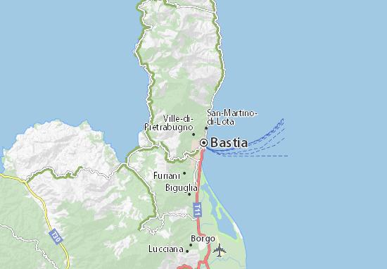 Karte Stadtplan Ville-di-Pietrabugno