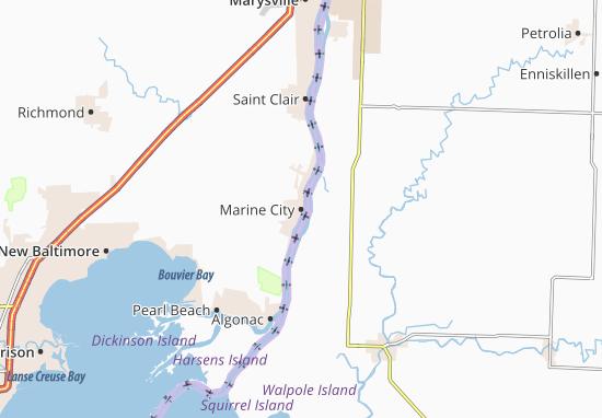 Kaart Plattegrond Marine City