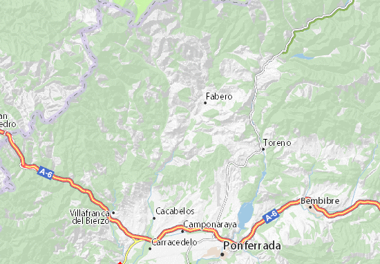 Vega de Espinareda Map