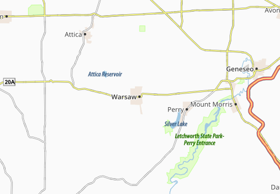 Mapas-Planos Warsaw