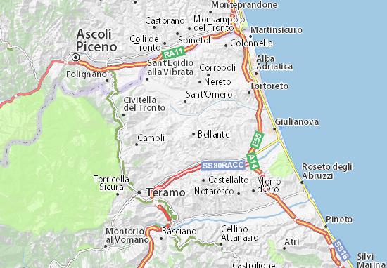 Karte Stadtplan Bellante