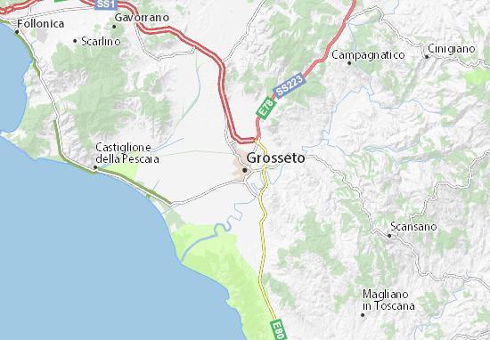 Grosseto Map