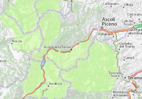 Carte-Plan Acquasanta Terme