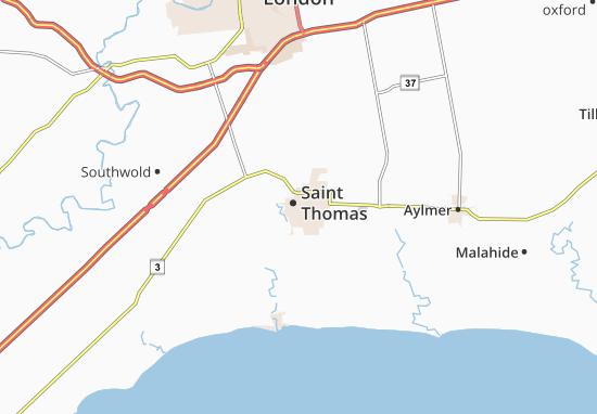Carte-Plan Saint Thomas