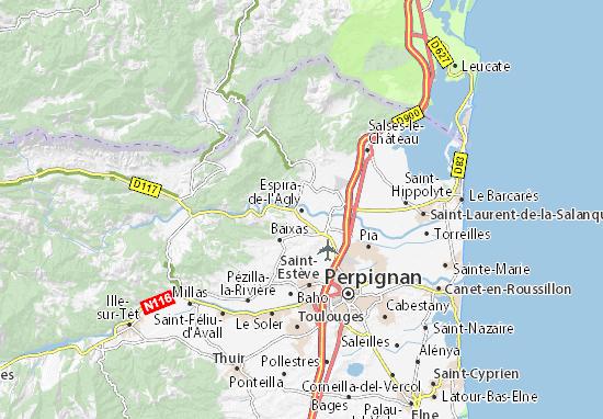 Karte Stadtplan Espira-de-l'Agly