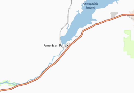 Carte-Plan American Falls