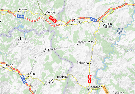 Antas de Ulla Map